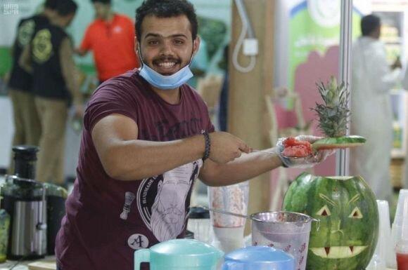 #صور من ...#مهرجان_الورد_والفاكهة_بتبوك