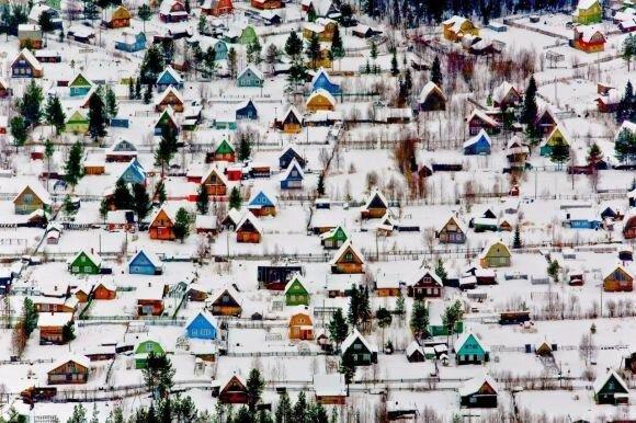 منازل ريفية بالقرب من أرخانجيلسك شمال #روسيا