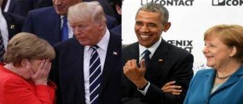 12 صورة تظهر الفرق بين لقاءات ميركل مع اوباما و لقاءاتها مع ترامب