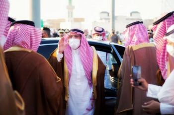 """صور من تدشين أمير منطقة القصيم لمسيرة """"هي لنا دار""""  بمناسبة اليوم الوطني"""