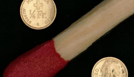 أصغر عملة ذهبية في العالم تم سكها في سويسرا