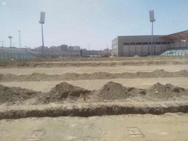 وزارة الرياضة تبدأ أعمال الصيانة للملاعب و تحول رديف ملعب مدينة الملك عبدالله ببريدة إلى ملعب رسمي مطابق للاشتراطات الدولية