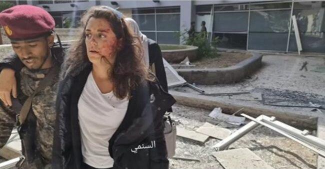 """بالصور إصابة اللبنانية """" #يارا_خواجه """" المتحدثة بإسم الصليب الأحمر في اليمن"""