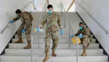 الجيش الأمريكي يدفع بأكثر من عشرة آلاف جندي لمكافحة #كورونا