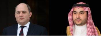 وزير الدفاع البريطاني يشيد بالدور السعودي في حماية الممرات البحرية وضمان حرية الملاحة