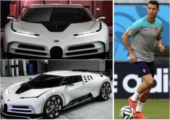كريستيانو رونالدو ينفق 8.5 مليون جنيه إسترليني على شراء بوجاتي سينتوديشي
