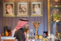 """وزير الرياضة يلتقي سفير المملكة المغربية لدى المملكة """"عن بعد"""""""