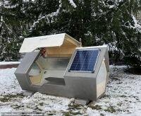 مدينة ألمانية تخصص صناديق معزولة لإيواء المشردين في ليالي الشتاء الباردة