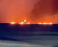 بالفيديو : تسرب نفطي يتسبب في ظهور نوافير من النيران في روسيا