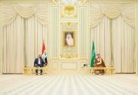 ولي العهد يعقد جلسة مباحثات مع رئيس وزراء العراق مصطفى الكاظمي