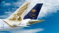 """""""الخطوط السعودية"""" تُفعل اتفاقية الرمز المشترك مع طيران الخليج"""